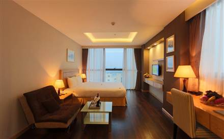 Executive City View Room with lake view or city view, 38m2, 01 bed or 02 beds